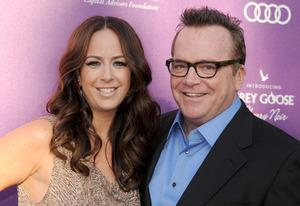 Ashley Groussman,  Tom Arnold | Photo Credits: Gregg DeGuire/WireImage