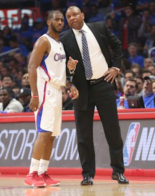 Doc Rivers tells Chris Paul to start looking for an apartment. (Stephen Dunn/Getty Images)