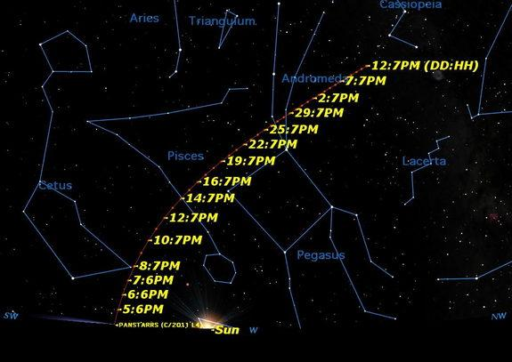 Naked-Eye Comet Pan-STARRS at Its Brightest This Weekend