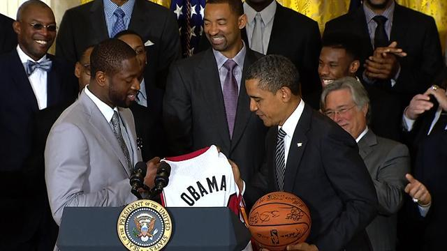 Miami Heat celebrate championship at White House