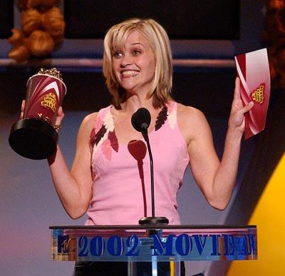 Reese Witherspoon Best Comedic Performance MTV Movie Awards 6/1/2002