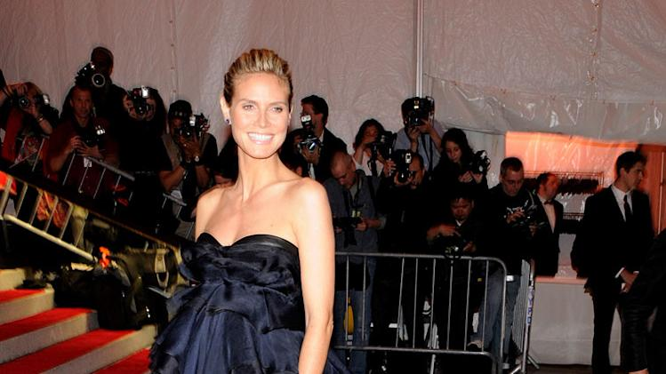 "Heidi Klum attends ""The Model as Muse: Embodying Fashion"" Costume Institute Gala at The Metropolitan Museum of Art on May 4, 2009 in New York City."