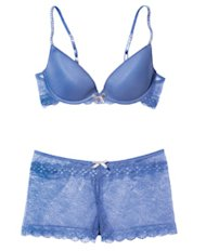 Coranto stretch lace contour bra and culottes, Elle Macpherson Intimates; Time Inc Digital Studio