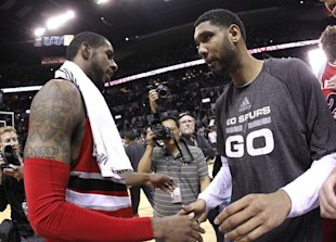 Tim Duncan will be part of a group meeting with LaMarcus Aldridge in Los Angeles. (AP)
