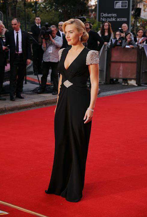 Kate Winslet arrive à la première de Titanic 3D au Royal Albert Hall à Londres.