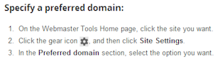 Google Webmaster Tools: Best Practices for Boosting SEO image 2.specified preferred domain