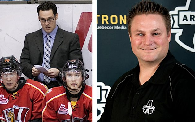 Drakkar coach Eric Veilleux (left) and Armada coach J-F Houle left their teams this week to coach in the pro ranks, leaving both teams without a head ...