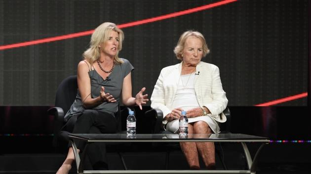 Director Rory Kennedy and Ethel Kennedy speak onstage during the HBO Summer 2012 TCA Panel at The Beverly Hilton Hotel on August 1, 2012 -- Getty Images