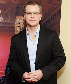 "Matt Damon Goes on Toilet Strike: ""I Will Not Go to the Bathroom"""