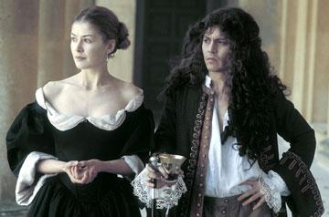 Rosamund Pike and Johnny Depp in The Weinstein Company's The Libertine