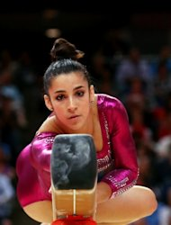 Alexandra Raisman of the United States competes on the balance beam in the Artistic Gymnastics Women's Individual All-Around final on Day 6 of the London 2012 Olympic Games at North Greenwich Arena on August 2, 2012 -- Getty Images