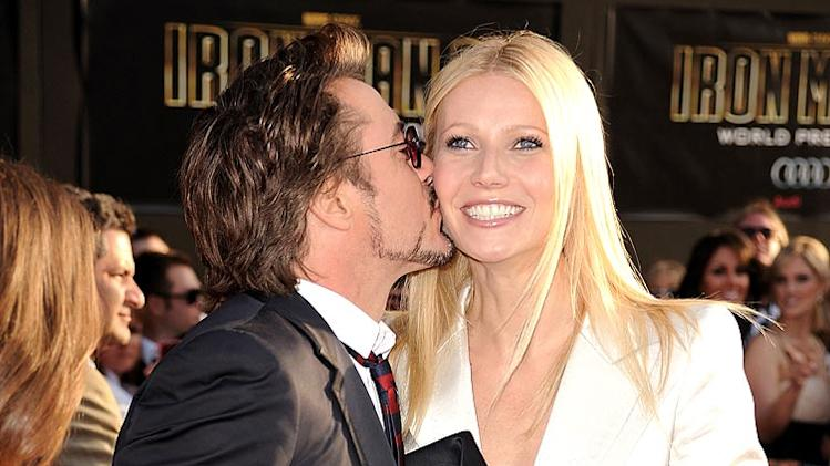 Downey Jr Paltrow Iron Man Pr