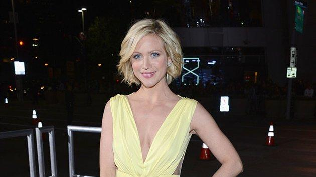 "BEST: Brittany Snow.  Looking like a fresh spring daffodil, Snow is ""Pitch Perfect"" in a elegantly draped Maria Lucia Hohen dress."