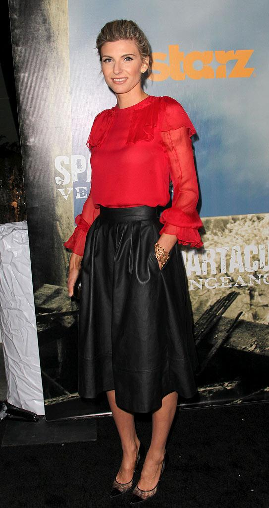 "Viva Bianca attends the Starz Original Series ""Spartacus: Vengeance"" Premiere Event at ArcLight Cinemas Cinerama Dome on January 18, 2012 in Hollywood, California."