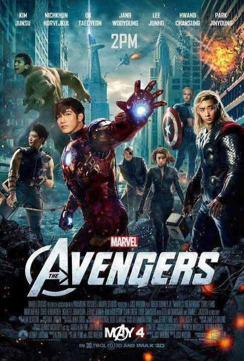2PM Transforms into 'The Avengers'