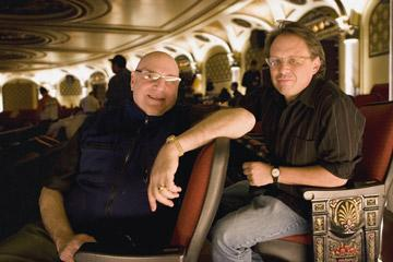 Composer Henry Krieger and director Bill Condon on the set of DreamWorks Pictures' and Paramount Pictures' Dreamgirls
