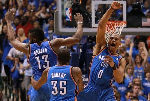 The Thunder wrapped up their Western Conference series against the Mavs with a 103-97 victory in game four