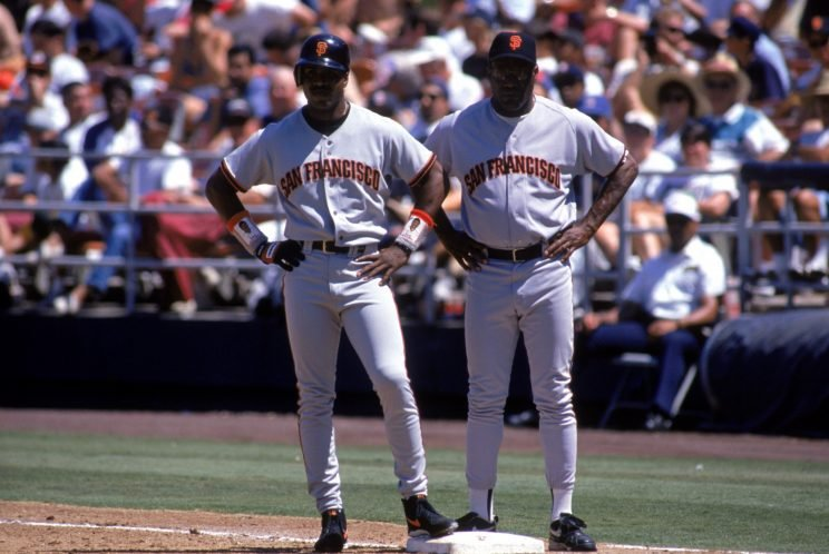 Barry Bonds and Bobby Bonds combined for a fun home run stat. (Getty Images/Todd Warshaw)