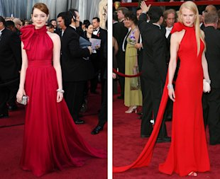 emma stone nicole kidman oscars red dress.jpg