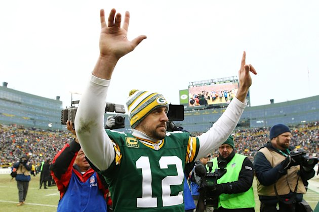 If you feel the need to draft a QB early, Aaron Rodgers may be the most prudent choice.   (Getty)