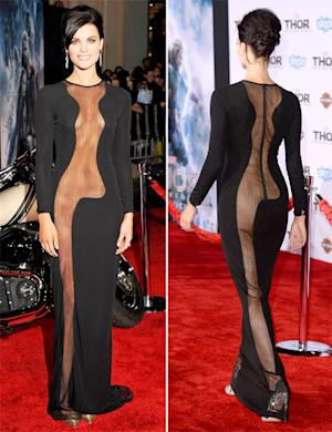 Jaimie Alexander Goes Without Underwear in Shocking Sheer Dress With Body-Flashing Cutouts: Pictures