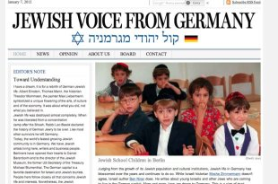 La home page della testata The Jewish Voice from Germany