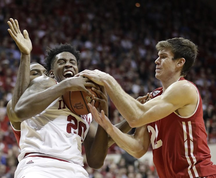 Indiana has now lost three straight games against Nebraska, Louisville and Wisconsin (AP).