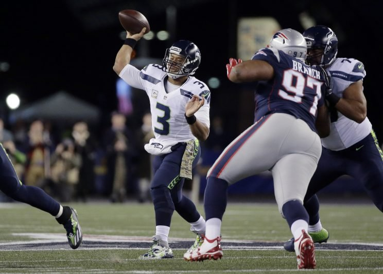 Russell Wilson led an upset win over the Patriots last week (AP)