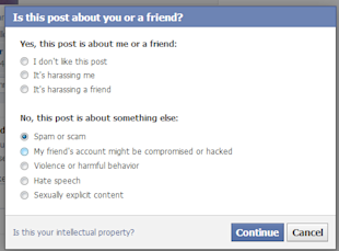 How To Report A Facebook Post in Your News Feed For Bad Behavior image facebook report content 3
