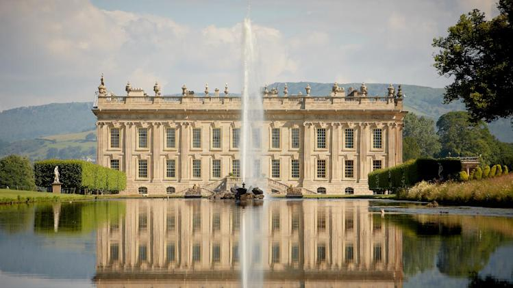 "This undated publicity image released by PBS shows the Chatsworth House in Derbyshire, England. The home to the Dukes of Devonshire for more than 500 years, is featured in the PBS special ""Secrets of Chatworth."" (AP Photo/PBS)"