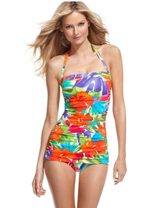 Floral Printed One-Piece, $94