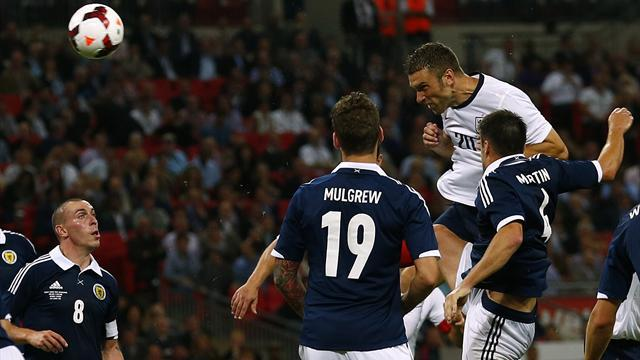 International friendlies - Lambert scores dream debut winner as England beat Scotland