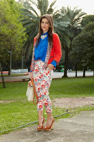 Zebra and Floral Prints At Sao Paolo Fashion Week