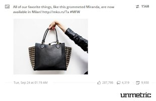 Michael Kors Shows Poise and Sophistication on Social Media image MK most engaging post