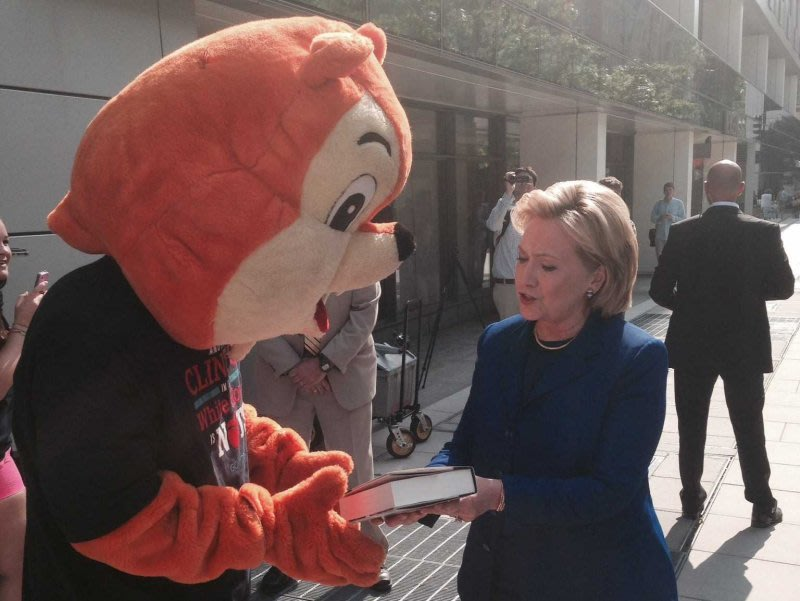 Hillary Clinton Had The Perfect Response For The Republican Squirrel That's Been Stalking Her