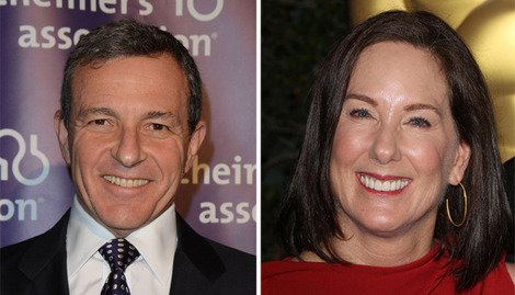 Current Disney Overlord, Bob Iger alongside leader of the Rebel Alliance, Kathleen Kennedy.