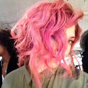 Coco Rocha and Nicola Roberts Jump on the Pink Hair Band Wagon!