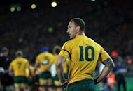 "Wallabies flyhalf Quade Cooper during the second Bledisloe Cup Test in August. Cooper has criticised the conservative coaching methods and tactics of Robbie Deans, describing the environment within the Australian team as ""toxic"""