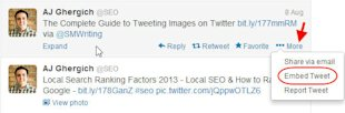 How to Embed Tweets on Your Website and Blog image Hover Over Tweet and Click on More