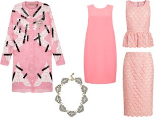 Pink fashion style clothing Christopher Kane celebrities wearing