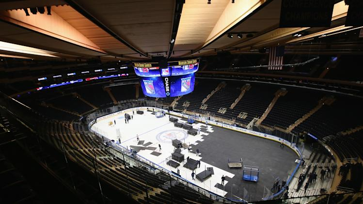 Madison Square Garden Arena Changeover
