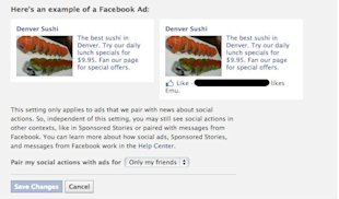 Facebook Ditches Sponsored Stories: Do You Care? image social ads opt out