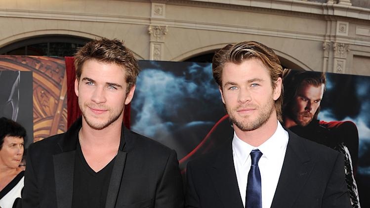 Thor LA Premiere 2011 Liam Hemsworth Chris Hemsworth