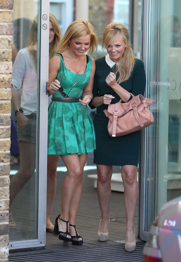 Emma Bunton and Geri Halliwell