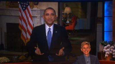 Raw: President Obama Appears on the Ellen Show