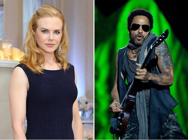Nicole Kidman and Lenny Kravitz