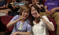Yoonah and Sunny visits 'Dancing With The Star' to cheer for Hyoyeon