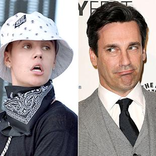 "Jon Hamm Thinks Justin Bieber Is a ""S--thead"""