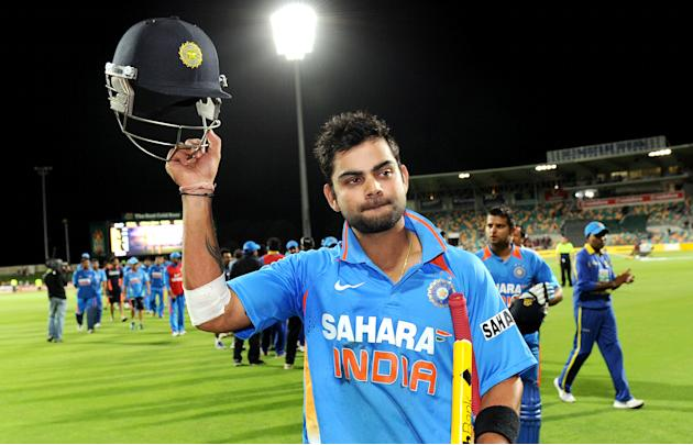 Indian batsman Virat Kohli acknowledges