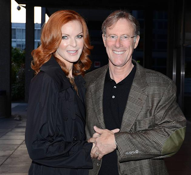 Marcia Cross and Tom MahoneyCelebrities outside the RTE studios for 'The Saturday Night Show' Dublin, Ireland - 19.05.12Mandatory Credit: WENN.com